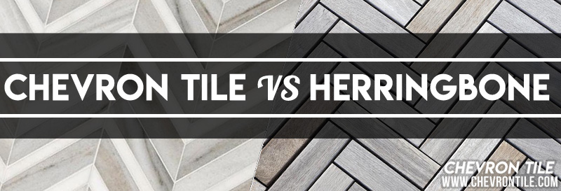 Chevron Tile vs Herringbone Title